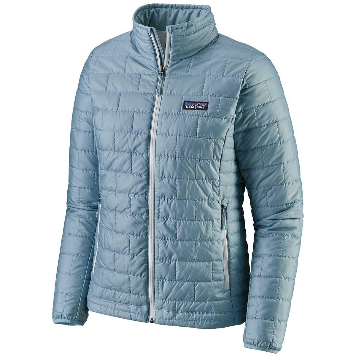 Patagonia women's Nano Puff Jacket in Big Sky Blue front view